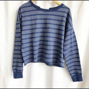 Levi's navy blue  and silver stripe sweatshirt